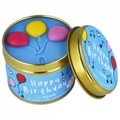 Bomb Cosmetics Tin Candle Happy Birthday