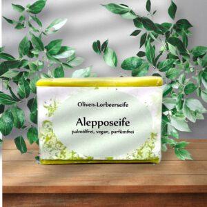 Alepposeife mit Olivenöl und Lorbeeröl