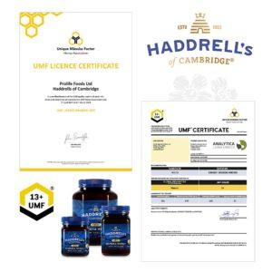 MyDailySoapOpera.de-Haddrells-Manukahonig-mgo400-umf13-zertifikat
